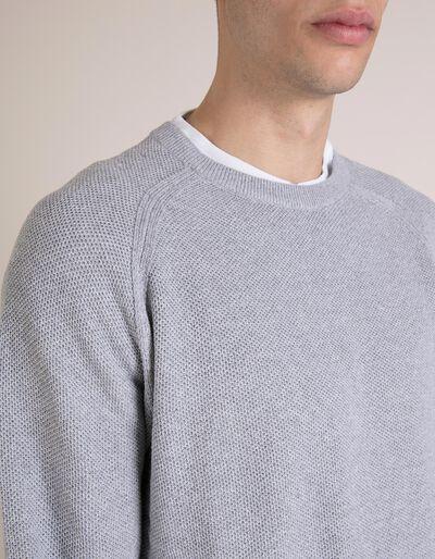 Camisola Malha Cinzenta
