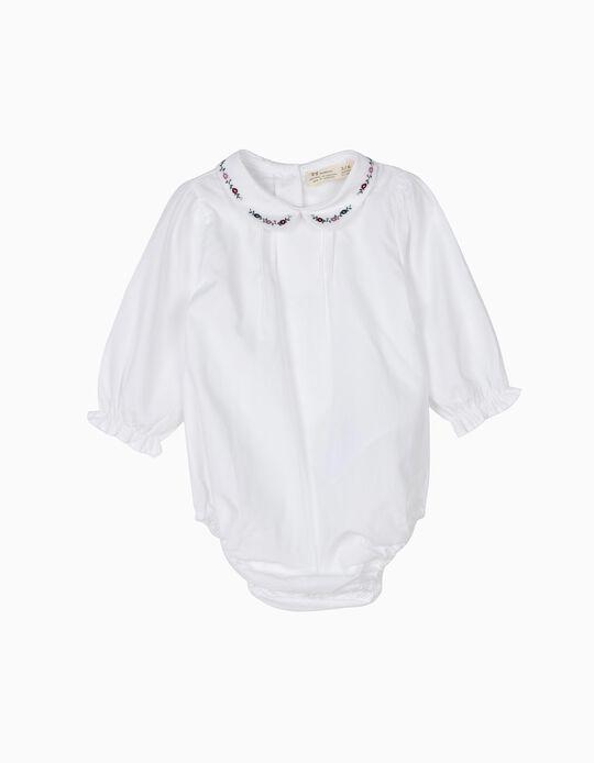Body-Blusa Recém-Nascida Gola Florida B&S