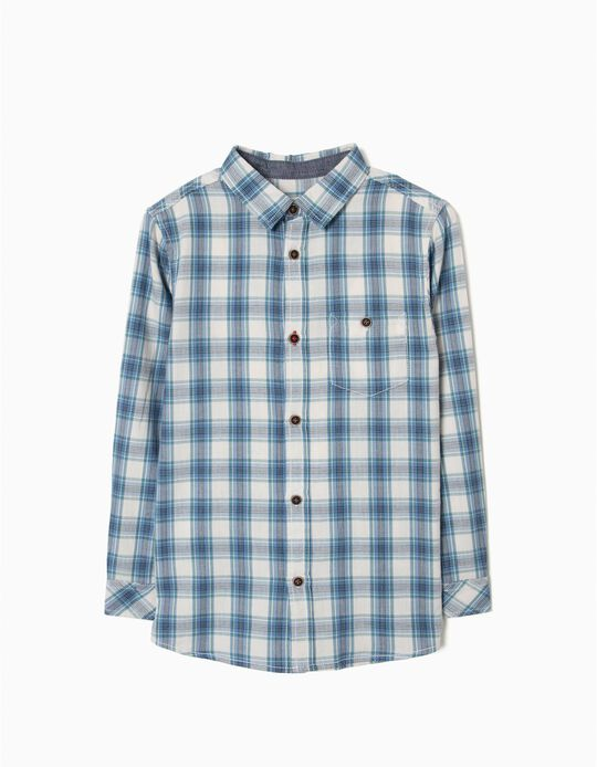 Camisa Xadrez para Menino, Azul