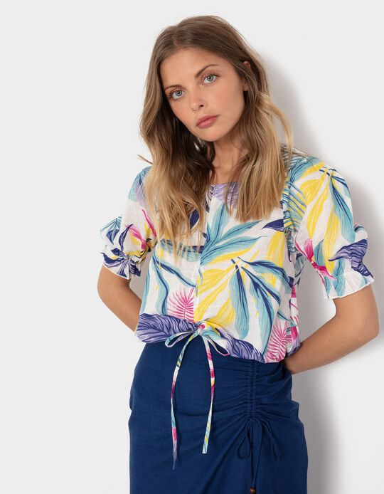 Tropical Cropped Blouse, Women