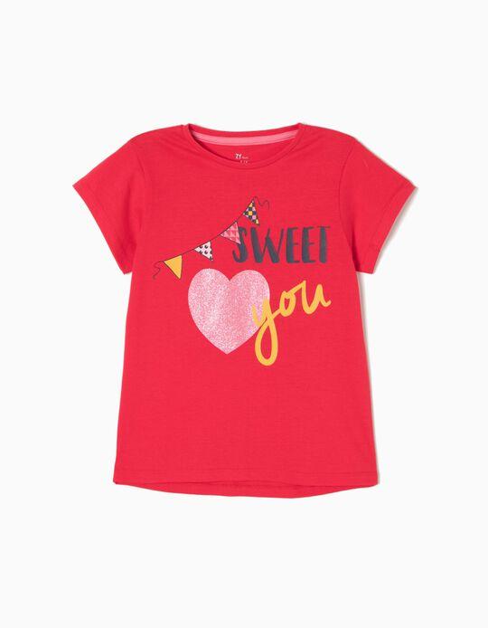 T-shirt Sweet You Vermelha