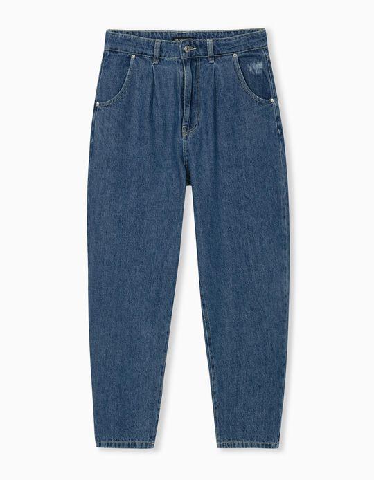 Mum Fit Jeans, Women, Blue