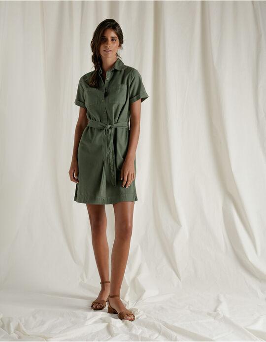 Vestido Linen Blend