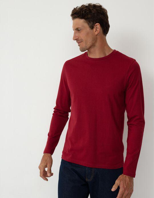 Long Sleeve Basic Top, Men, Red
