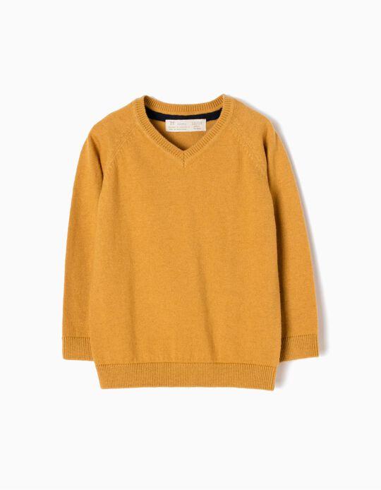 Camisola de Malha Amarelo Torrado