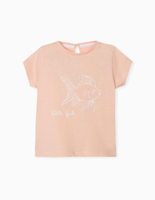 T-shirt para Bebé Menina, 'Little Fish'
