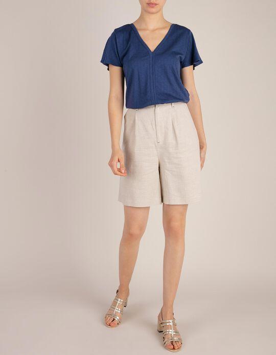 Shorts Linen Blend