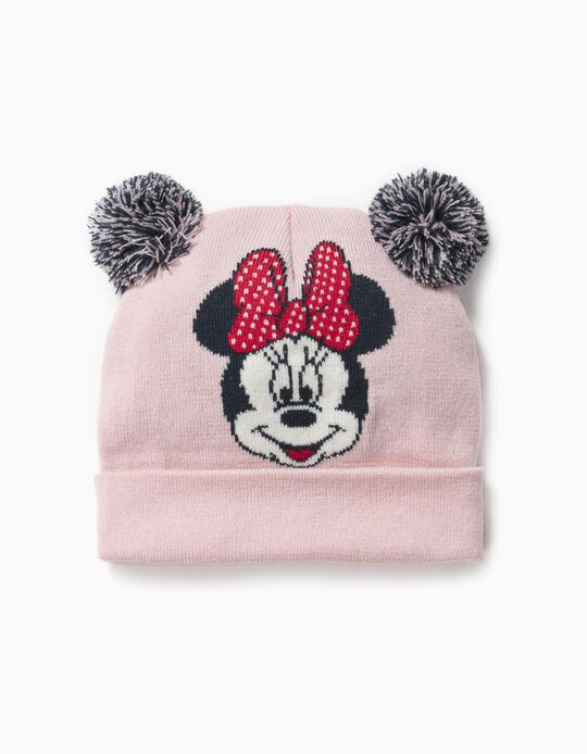 Knit Beanie for Baby Girls 'Minnie', Pink