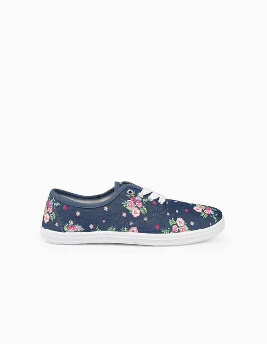 Floral Fabric Trainers