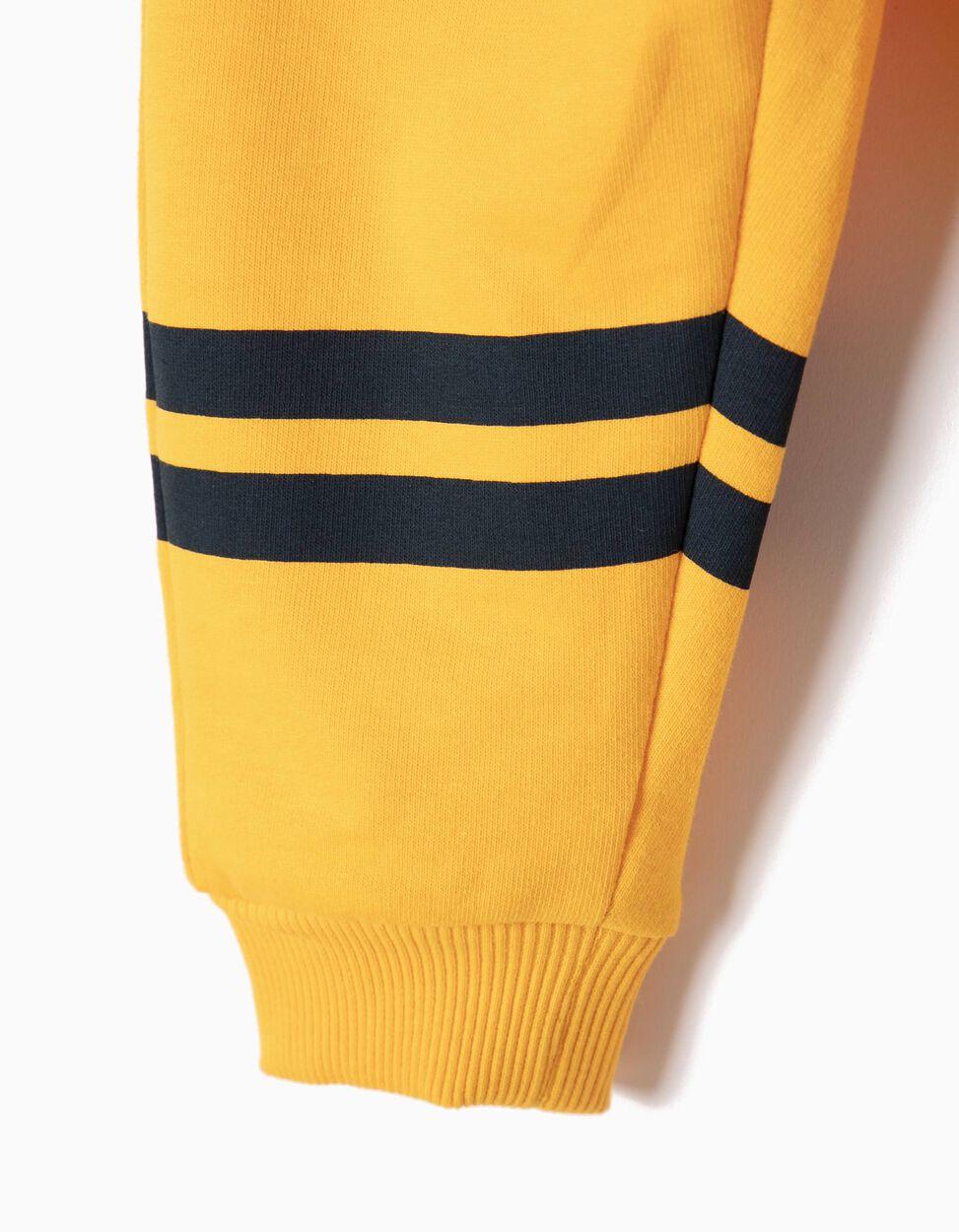 Calças de Treino Amarelas com Riscas