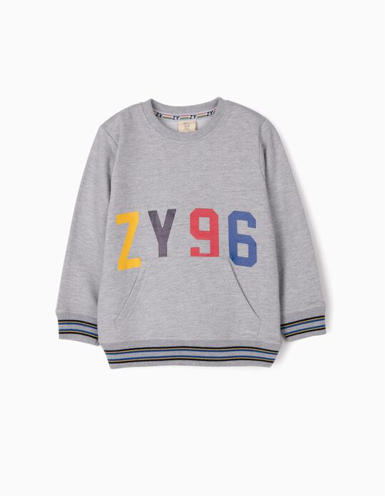 Sweatshirt for Boys 'ZY 96', Grey