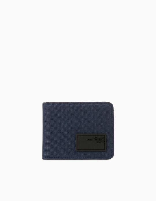 Canvas Wallet for Men, Blue
