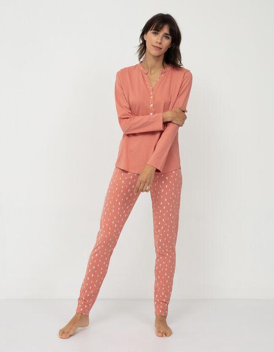 Cotton Pyjamas for Women, Salmon