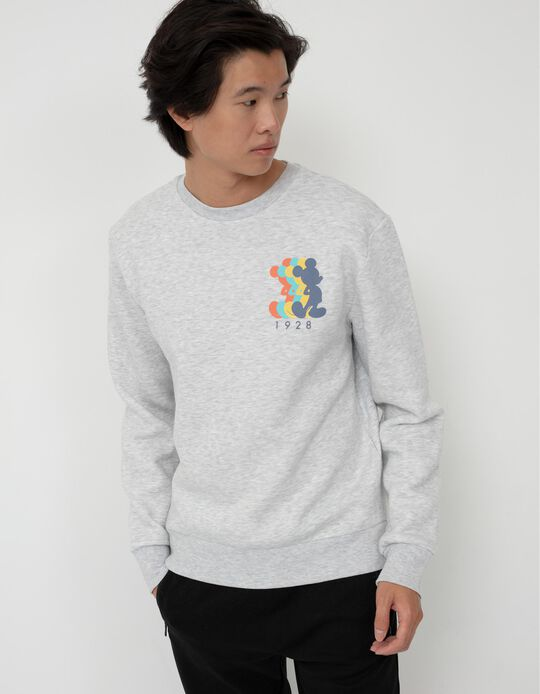Disney Sweatshirt, Men, Light Grey