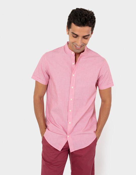Mandarin Collar Shirt, Men
