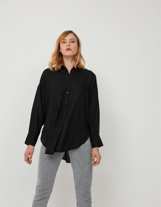 Oversized Blouse, Women, Black