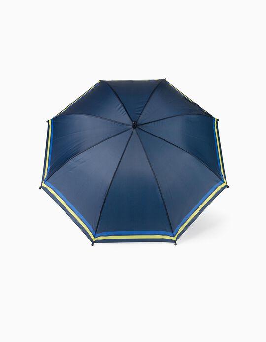 Umbrella for Boys, 'Stripes', Dark Blue