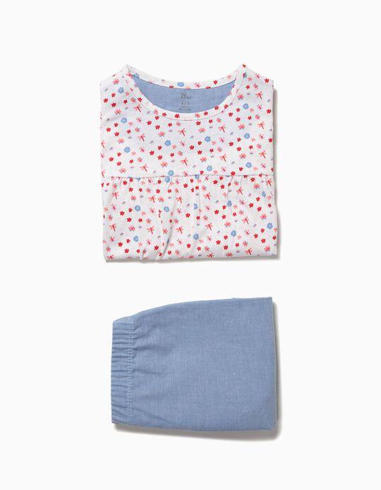 Pijama Estampado com Folhos