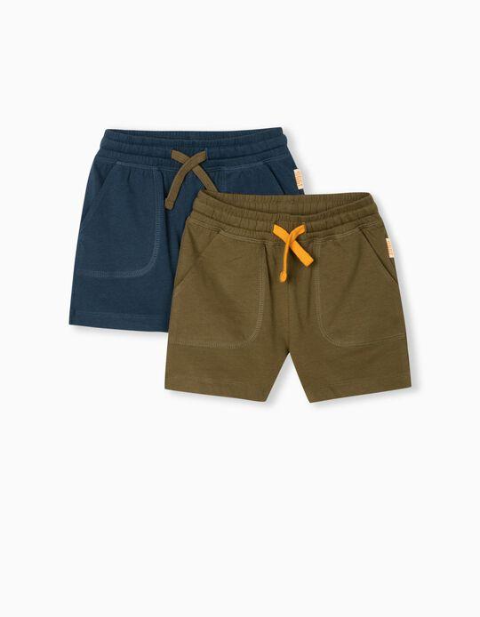 2 Jogger Shorts, Baby Boys