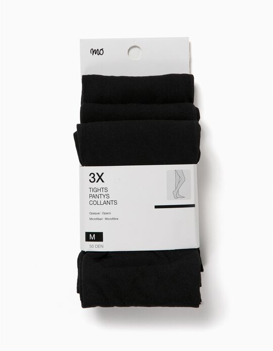Pack 3 Collants Opacos