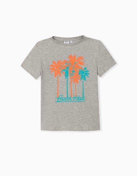 T-Shirt, Menino, Cinza