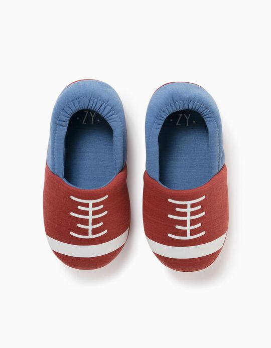 Pantufas para Menino 'American Football', Castanho/Azul