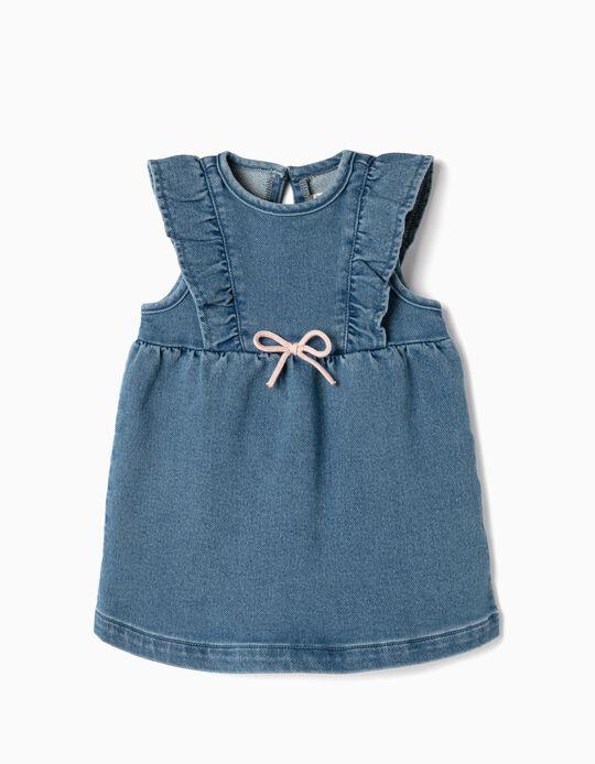 Dress for Newborn Girls 'Comfort Denim', Blue