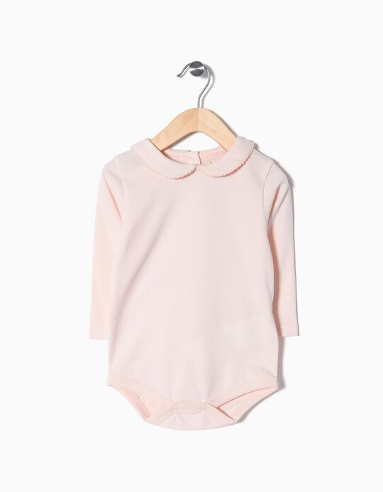 Long-Sleeved Bodysuit, Pink