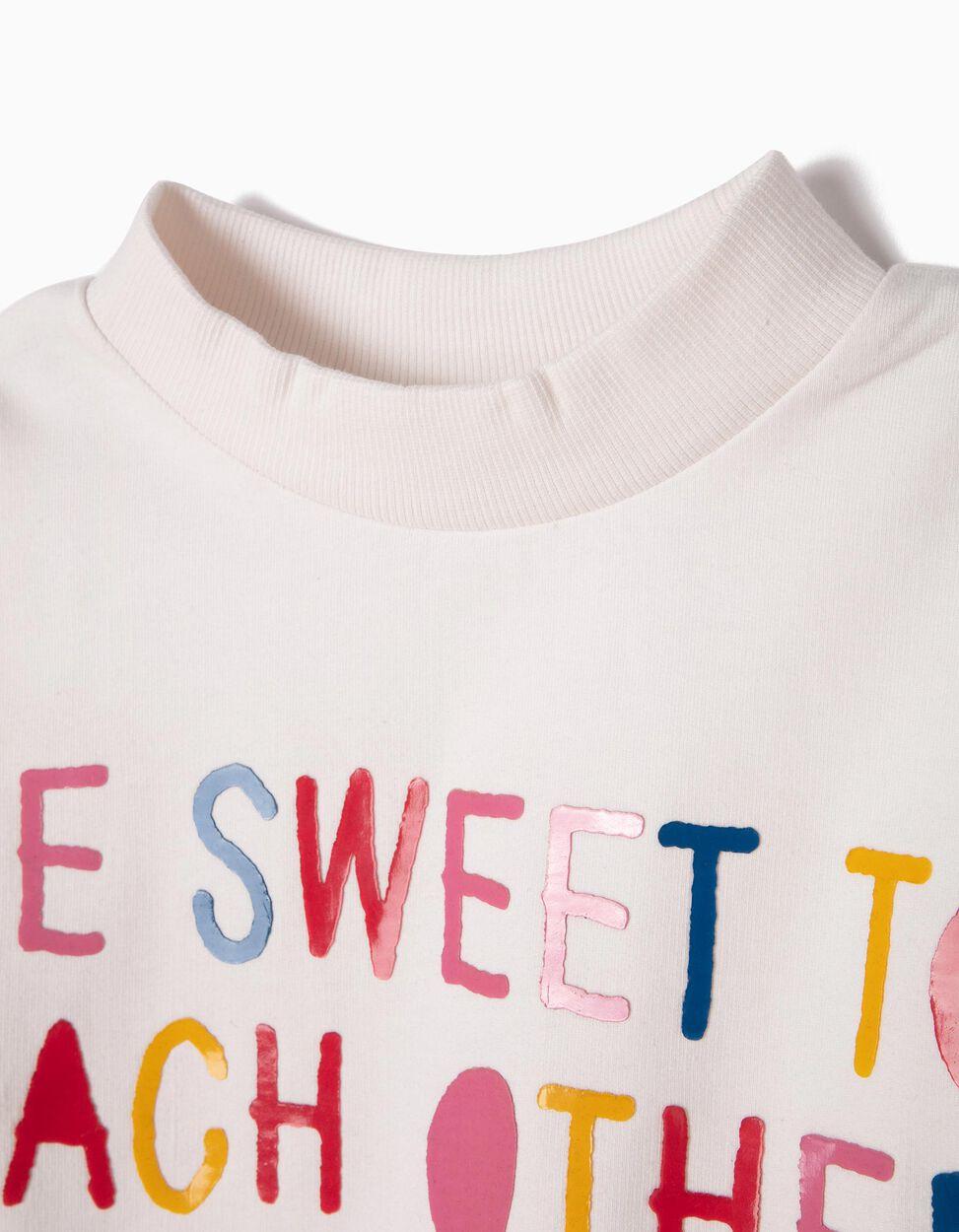Sweatshirt Be Sweet Branca