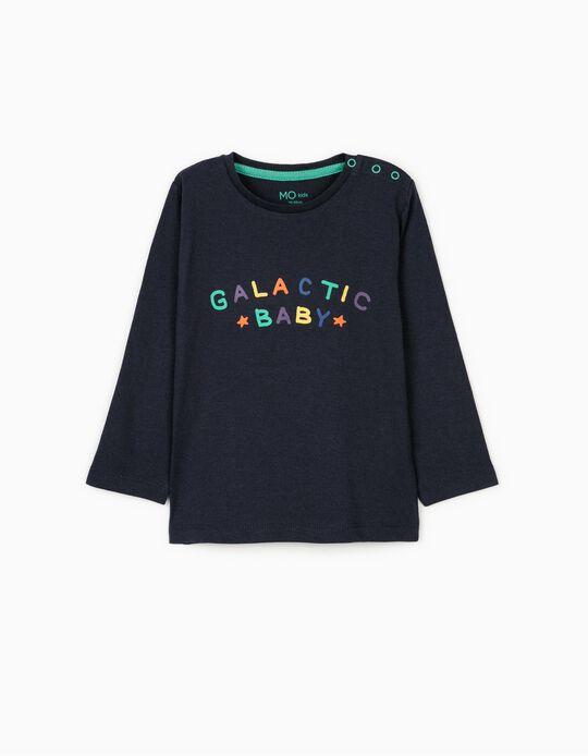 T-shirt manga comprida estampado