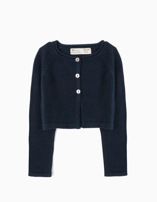 Bolero Jacket for Baby Girls, Dark Blue