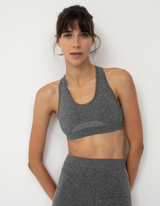 Sports Top for Women, Marl Grey