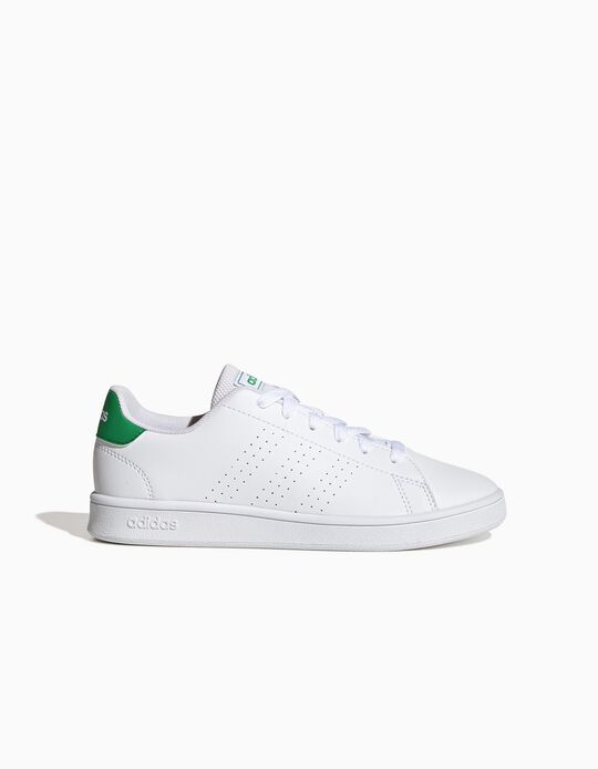 Trainers, 'Adidas Advantage', White/Green