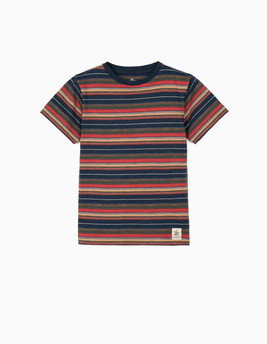 Striped T-shirt for Boys, Dark Blue