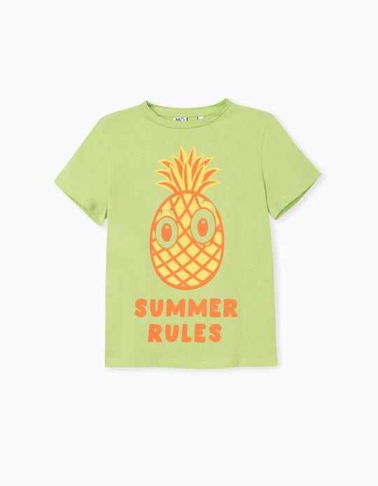 T-shirt, Menino, Verde Claro
