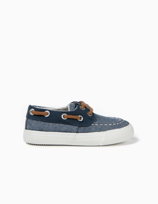 Textile Trainers for Baby Boys, Blue