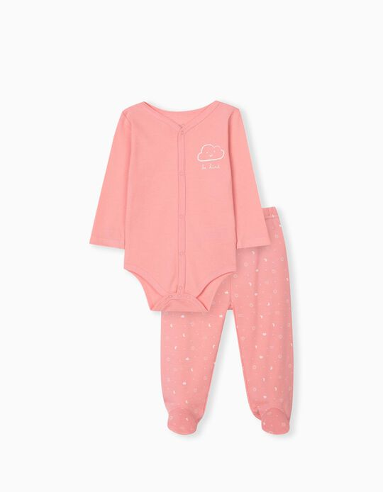 Bodysuit & Trousers for Babies, Pink