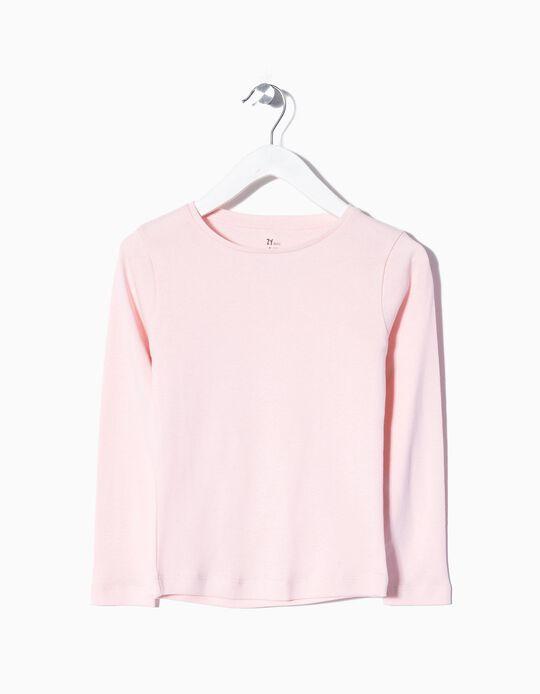 Manga comprida básica rosa