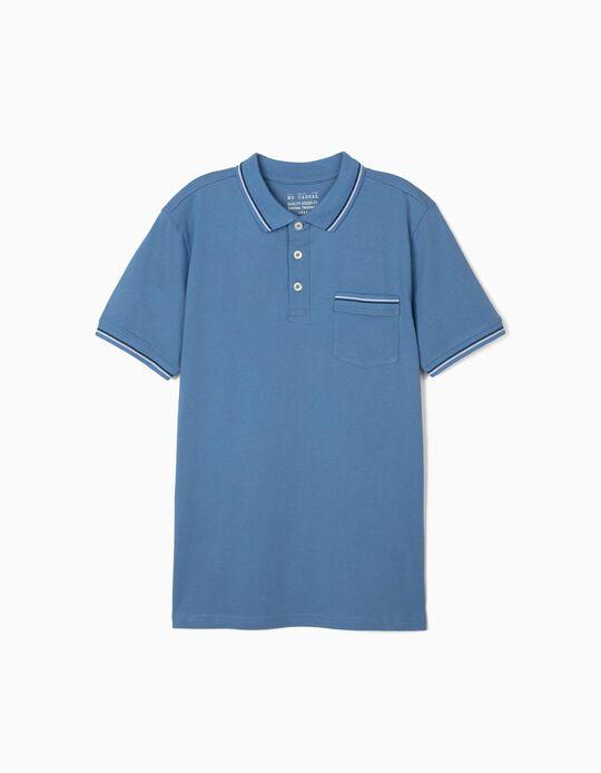 Blue Polo Shirt, for Men