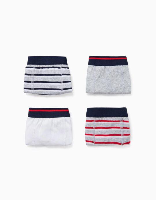 4 Boxer Shorts for Boys 'Stripes', Multicoloured