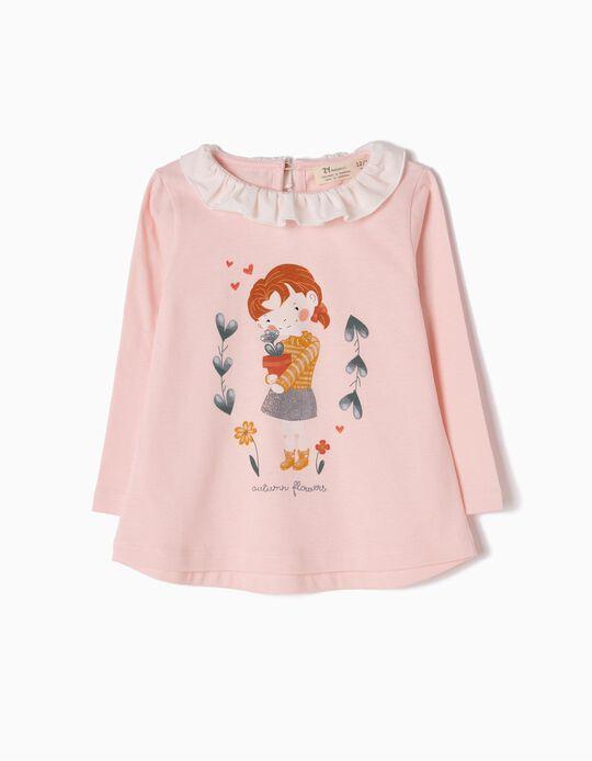 T-shirt Manga Comprida Autumn Flowers
