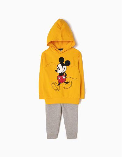Fato de Treino Mickey Amarelo e Cinza