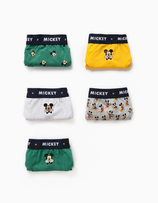 5 Briefs for Boys 'Mickey Mouse', Multicoloured