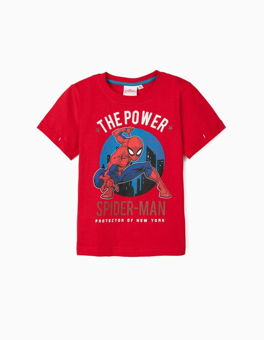 T-shirt para Menino 'The Power - Spider-Man', Vermelho