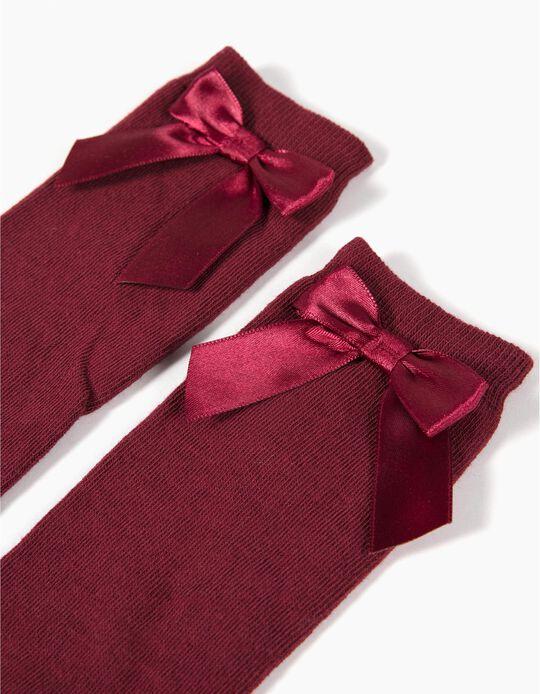 Knee-High Socks, Red