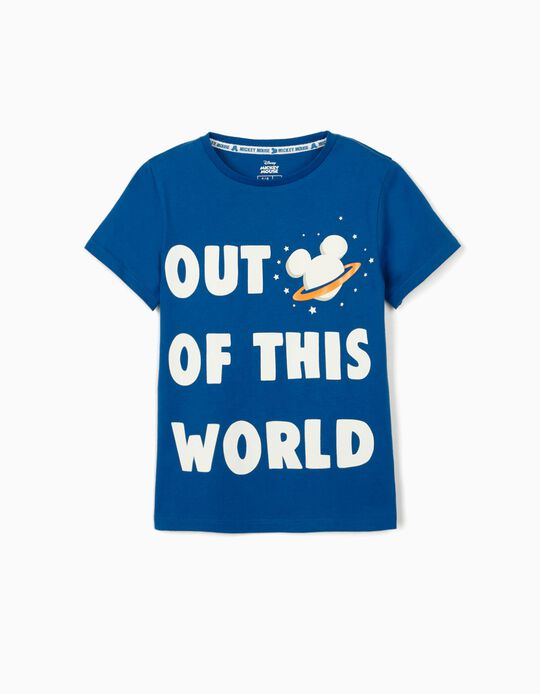 T-shirt for Boys, 'Mickey Out of This World', Blue