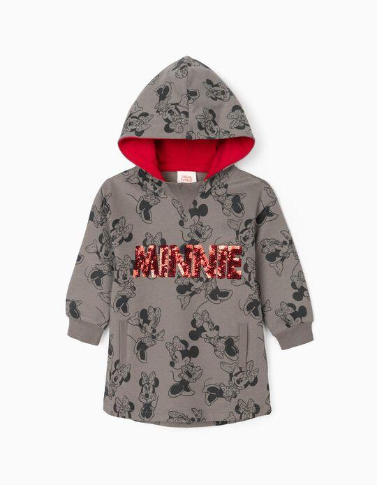 Sweat-Dress for Baby Girls 'Minnie', Grey