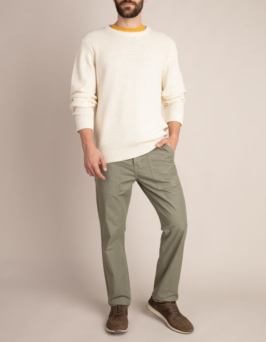 Twill Trousers with Pockets