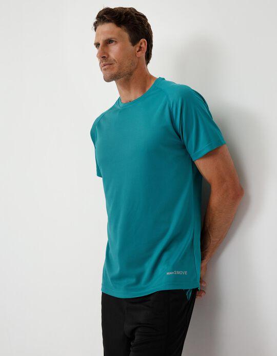 T-shirt Técnica Desporto, Homem, Azul
