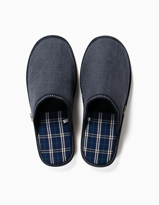 Chequered Bedroom Slippers